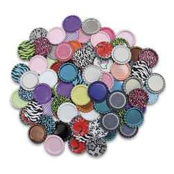 Standard 1 Flat Bottle Caps Assorted Colors