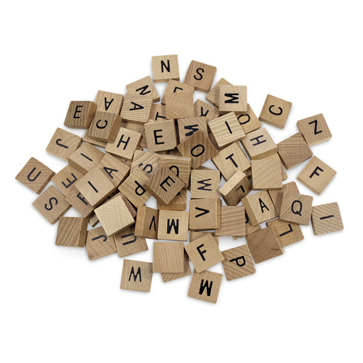Wooden Alphabet Tiles - 3/4 in. x 3/4 in., Pkg. of 80