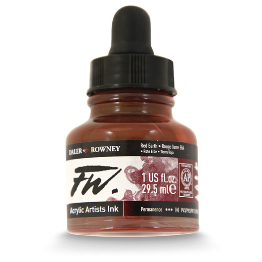 FW Liquid Acrylic Ink - Red Earth