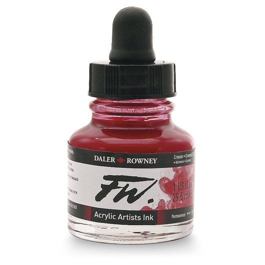 FW Liquid Acrylic Ink - Crimson