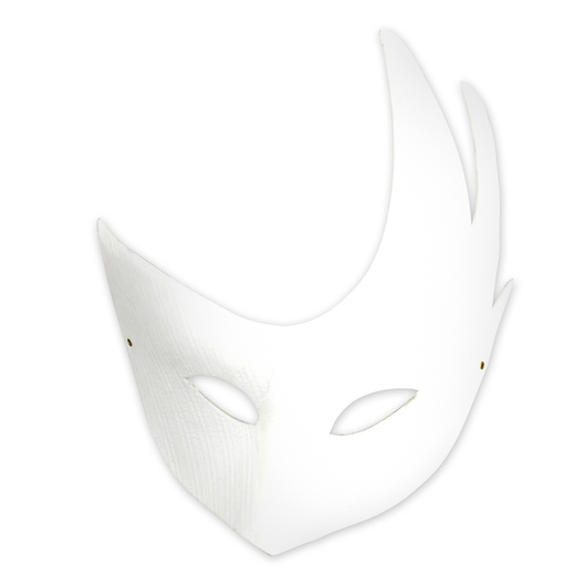 White Paper Half Mask with Side Swoops