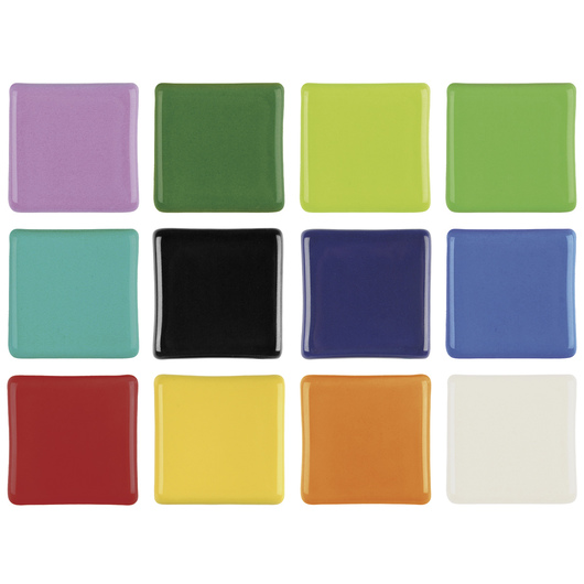 39274M AMACO® Lead-Free Low-Fire Teacher's Palette® Gloss Glaze Set (Cone 05)