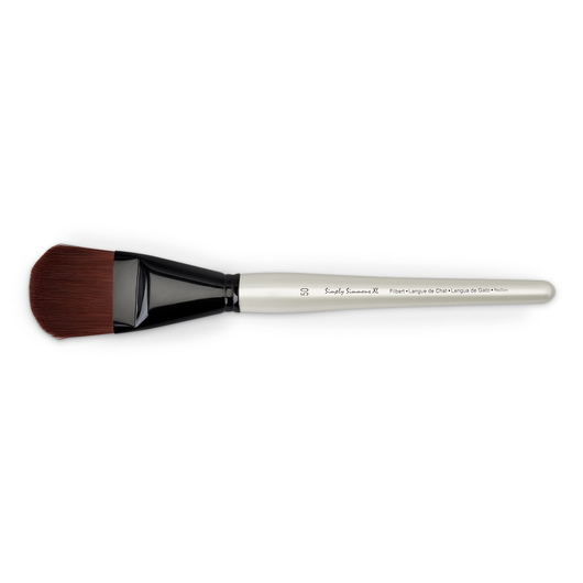 Simply Simmons® XL Brushes - Stiff Synthetic Burgundy - Filbert Size 50