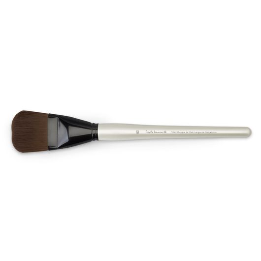 Simply Simmons® XL Brushes - Stiff Synthetic Burgundy - Filbert Size 60