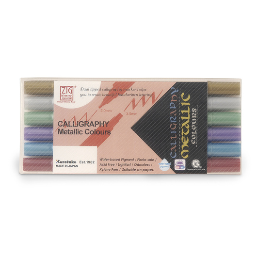 Zig® Memory System Dual-Tip Metallic Markers - Set of 6