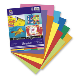 Pacon® Premium 65 lb. Tagboard Color Assortment - Pkg. of 50 - 8-1/2 in. x 11 in.