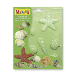 Makin's® Push Molds - Sea Shells - Set of 4