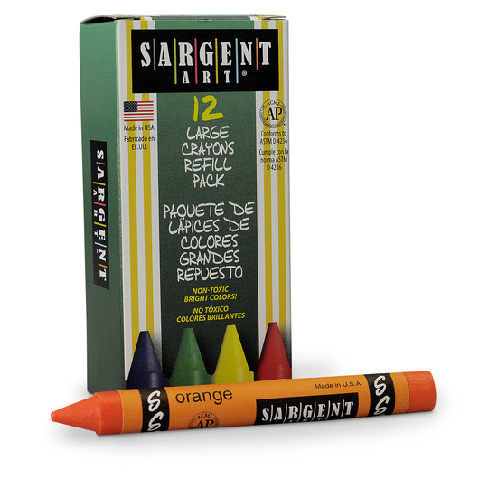 Sargent Art® Crayon Refills - Pkg. of 12 - Orange