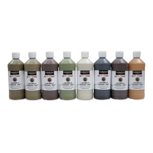 Sargent Art® Art-Time® Washable Multicultural Tempera Paint - 16 oz. - Set of 8