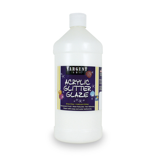 Sargent Art® Acrylic Glitter Glaze - 32-oz. Bottle