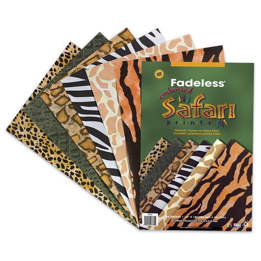 Pacon® Fadeless® Safari Prints - 24 Sheets - 12 in. x 18 in.