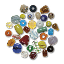 Glass Bead Assortment 1 lb