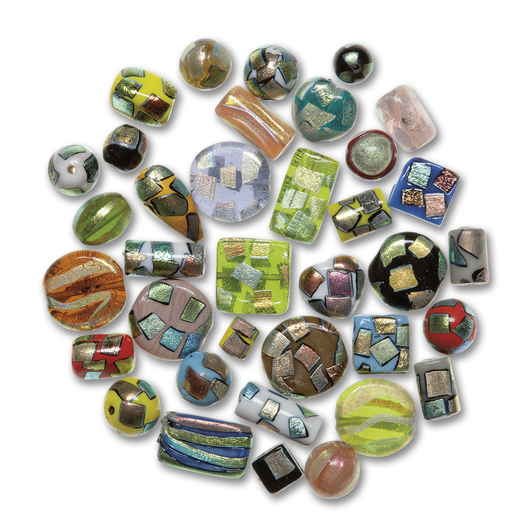 Metallic Accent Glass Bead Assortment - 1/4-lb. Bag
