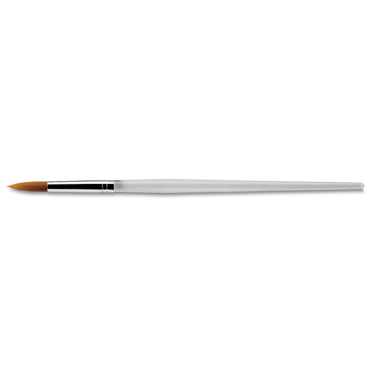 Royal Brush® Clear Choice Golden Taklon Brush with Standard Handle - Round Size 10