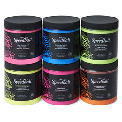 Speedball® Water Soluble Block Printing Ink Set of 6