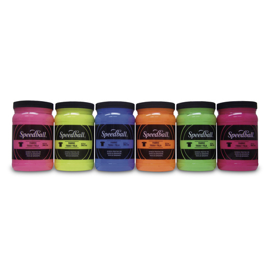 Speedball® Fabric Ink - Fluorescent Colors - 32 oz. - Set of 6