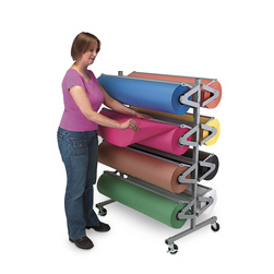 Horizontal Classroom Rola-Rack™ with Eight Dual-Finish Kraft Rolls