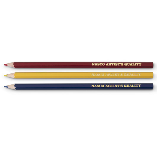 Nasco Artist's Colored Pencils - Primary Set of 3