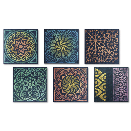 Rubbing Plates - Kaleidoscope - Set of 6