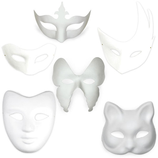 3b5fe24e24 White Paper Mask Complete Set of 6