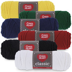 Red Heart Classic Knitting Yarn Set of 6