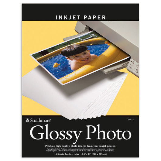 Strathmore® Glossy Photo Ink-Jet Paper - Pkg. of 15 - 8-1/2 in. x 11 in.