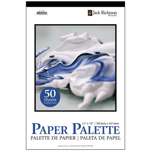 Jack Richeson® Disposable Palette Paper Pad - 50 Sheets - 12 in. x 18 in. - 35 lb.