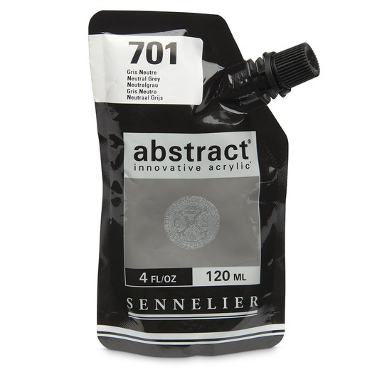 Sennelier abstract® Acrylics - Satin Colors - 120 ml - Neutral Gray