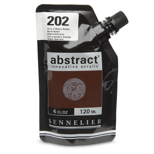 Sennelier abstract® Acrylics - Satin Colors - 120 ml - Burnt Umber