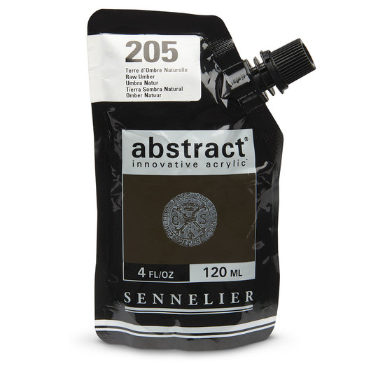 Sennelier abstract® Acrylics - Satin Colors - 120 ml - Raw Umber