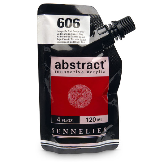 Sennelier abstract® Acrylics - Satin Colors - 120 ml - Cadmium Red Deep Hue