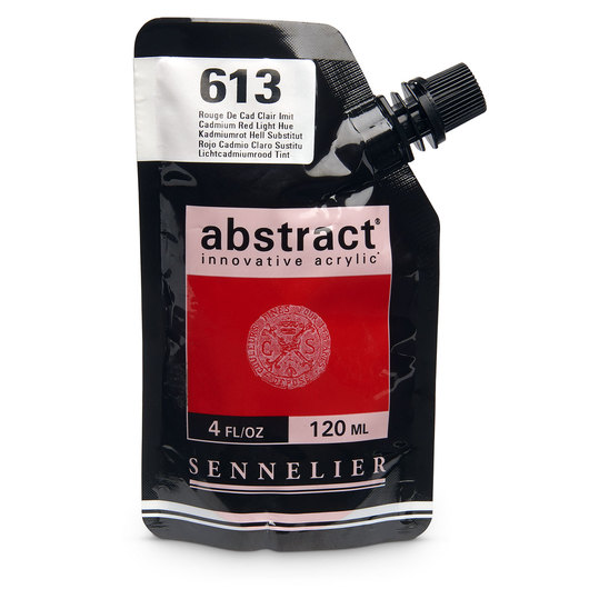 Sennelier abstract® Acrylics - Satin Colors - 120 ml - Cadmium Red Light Hue