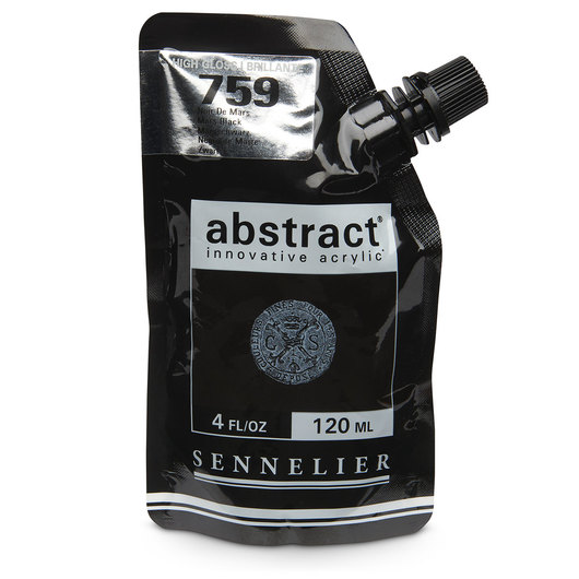 Sennelier abstract® Acrylics - High Gloss Colors - 120 ml - Mars Black