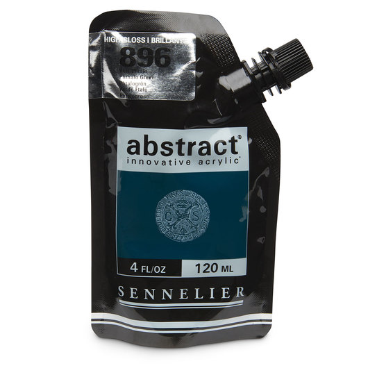 Sennelier abstract® Acrylics - High Gloss Colors - 120 ml - Phthalo Green