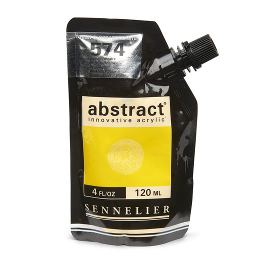 Sennelier abstract® Acrylics - High Gloss Colors - 120 ml - Primary Yellow