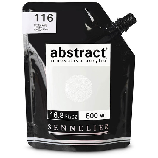 Sennelier Abstract® Acrylics - Satin Colors - 500 ml - Titanium White