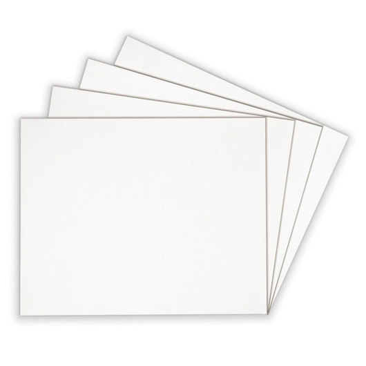 Alvin® White-on-White Presentation Boards - 11 in. x 14 in.