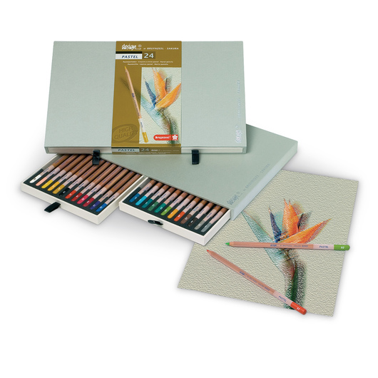Bruynzeel-Sakura® Design® Pastel Pencils - Set of 24