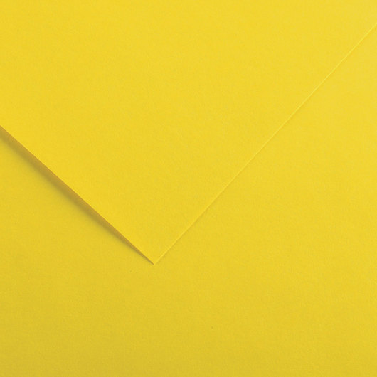 Canson® Colorline® Drawing Paper - 19 in. x 25 in. - 300 g - Canary Yellow