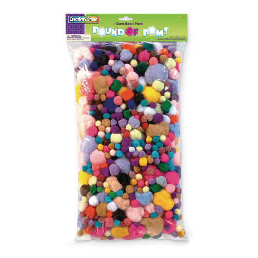 Pacon® Pound of Poms - 1 lb.