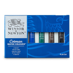 Winsor & Newton™ Cotman Watercolors - Set of 6 - 0.72 oz. (8 ml)