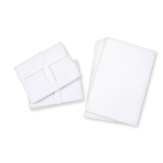 Blank Cards and Envelopes - White - Pkg. of 50 Cards and Envelopes - 4-1/4 in. x 5-1/2 in.