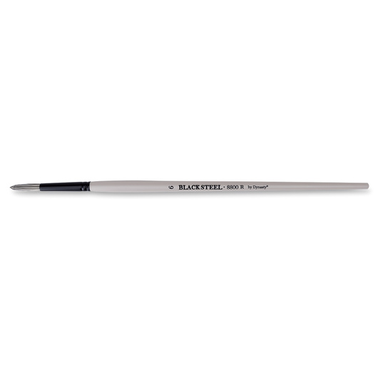 Dynasty® Black Steel® Synthetic Brush - Round Size 6