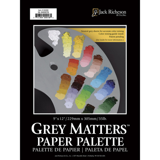 Jack Richeson® Grey Matters™ Paper Palettes - 35 lb. - 9 in. x 12 in.