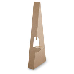Glue-On Easel Backs - Pkg. of 100 - 2-1/4 in. H - 75 pt. - 10 in. x 6-1/2 in.