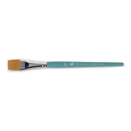 Princeton Select™ Artiste Brush with Golden Taklon Hair - Size 3/4 in. Flat Wash