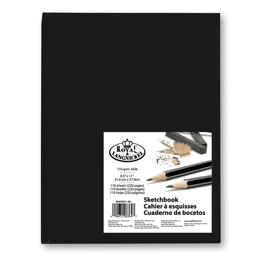 Royal® Sketchbook 8-Pack - 110 Sheets - 65 lb. - 8-1/2 in. x 11 in. - Black