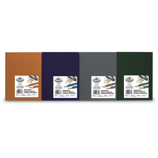 Royal® Sketchbook 8-Pack - 110 Sheets - 65 lb. - 5-1/2 in. x 8-1/2 in. - Rich Colors