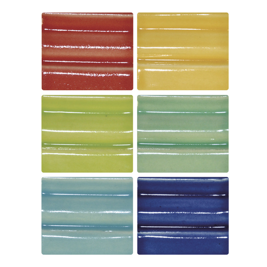 Spectrum® High-Fire Semi-Transparent Stoneware Glaze - Pint Jars - Pack of 6