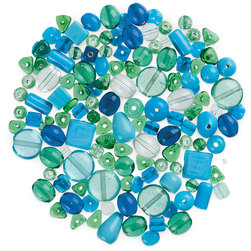 Bead Collections - Blues - 1 lb.